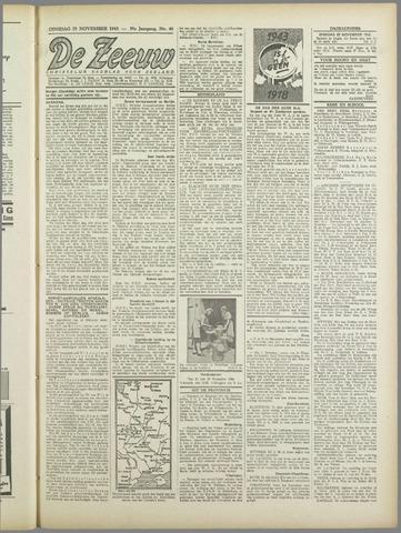 De Zeeuw. Christelijk-historisch nieuwsblad voor Zeeland 1943-11-23