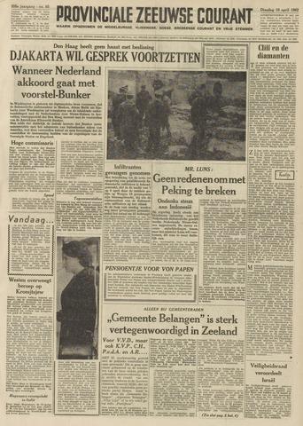 Provinciale Zeeuwse Courant 1962-04-10