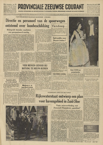 Provinciale Zeeuwse Courant 1958-04-28
