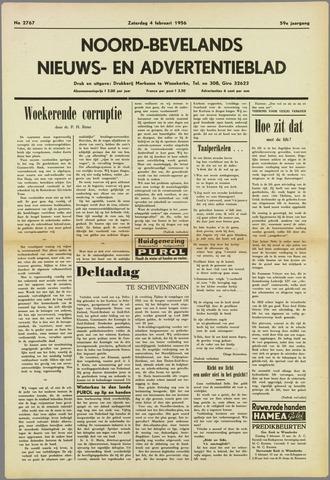 Noord-Bevelands Nieuws- en advertentieblad 1956-02-04