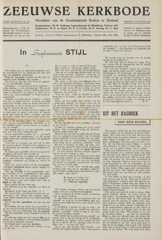 Zeeuwsche kerkbode, weekblad gewijd aan de belangen der gereformeerde kerken/ Zeeuwsch kerkblad 1951-01-12