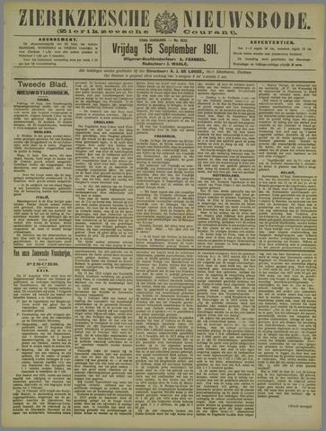 Zierikzeesche Nieuwsbode 1911-09-15