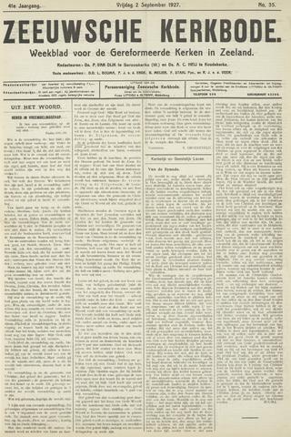 Zeeuwsche kerkbode, weekblad gewijd aan de belangen der gereformeerde kerken/ Zeeuwsch kerkblad 1927-09-02