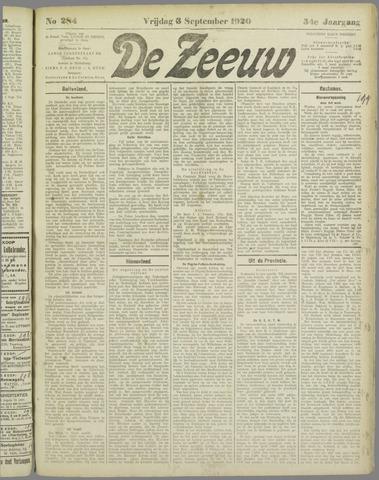 De Zeeuw. Christelijk-historisch nieuwsblad voor Zeeland 1920-09-03