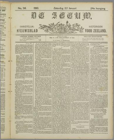 De Zeeuw. Christelijk-historisch nieuwsblad voor Zeeland 1910-01-22