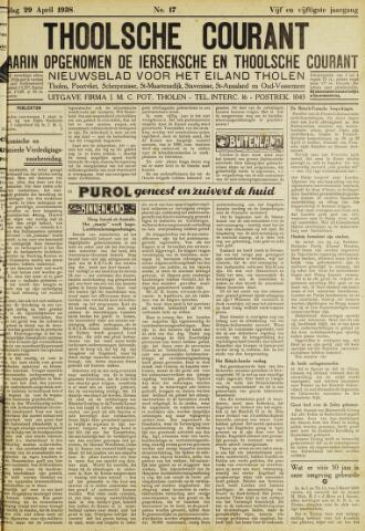 Ierseksche en Thoolsche Courant 1938-04-29