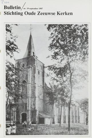 Bulletin Stichting Oude Zeeuwse kerken 1987-09-01