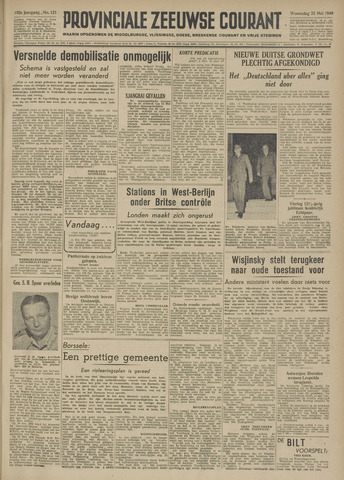 Provinciale Zeeuwse Courant 1949-05-25
