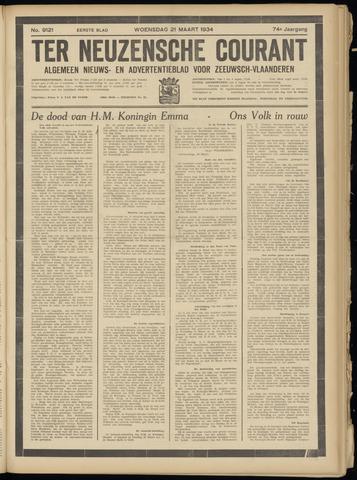 Ter Neuzensche Courant. Algemeen Nieuws- en Advertentieblad voor Zeeuwsch-Vlaanderen / Neuzensche Courant ... (idem) / (Algemeen) nieuws en advertentieblad voor Zeeuwsch-Vlaanderen 1934-03-21