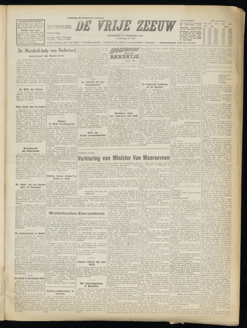 de Vrije Zeeuw 1949-02-19