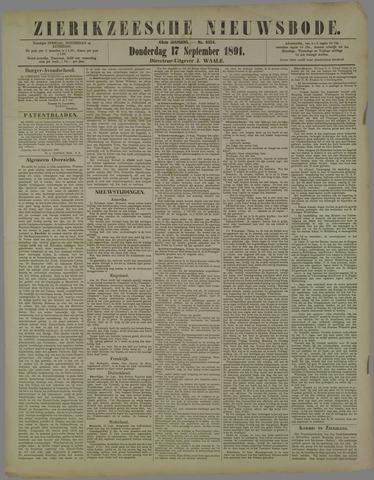 Zierikzeesche Nieuwsbode 1891-09-17