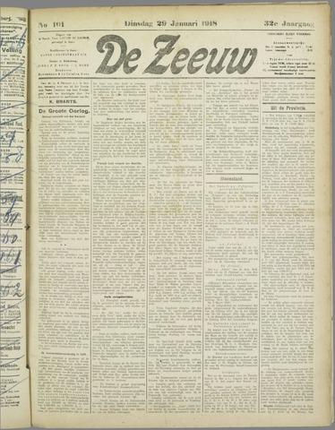 De Zeeuw. Christelijk-historisch nieuwsblad voor Zeeland 1918-01-29