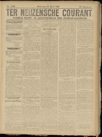 Ter Neuzensche Courant. Algemeen Nieuws- en Advertentieblad voor Zeeuwsch-Vlaanderen / Neuzensche Courant ... (idem) / (Algemeen) nieuws en advertentieblad voor Zeeuwsch-Vlaanderen 1923-04-23