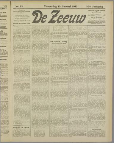 De Zeeuw. Christelijk-historisch nieuwsblad voor Zeeland 1915-01-13