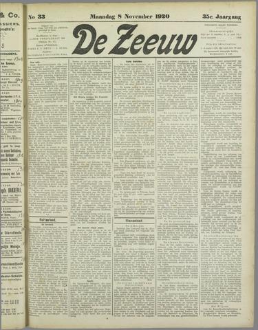 De Zeeuw. Christelijk-historisch nieuwsblad voor Zeeland 1920-11-08