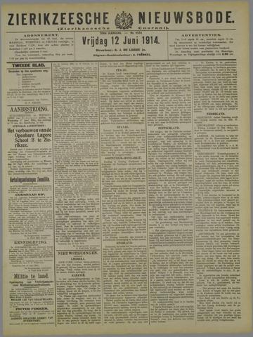 Zierikzeesche Nieuwsbode 1914-06-12