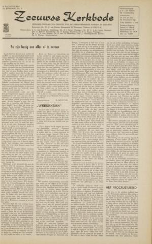 Zeeuwsche kerkbode, weekblad gewijd aan de belangen der gereformeerde kerken/ Zeeuwsch kerkblad 1963-08-16