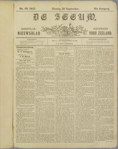 De Zeeuw. Christelijk-historisch nieuwsblad voor Zeeland 1902-09-30