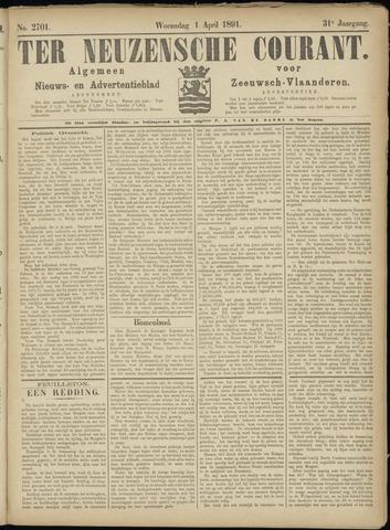 Ter Neuzensche Courant. Algemeen Nieuws- en Advertentieblad voor Zeeuwsch-Vlaanderen / Neuzensche Courant ... (idem) / (Algemeen) nieuws en advertentieblad voor Zeeuwsch-Vlaanderen 1891-04-01