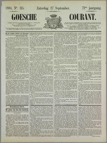 Goessche Courant 1884-09-27