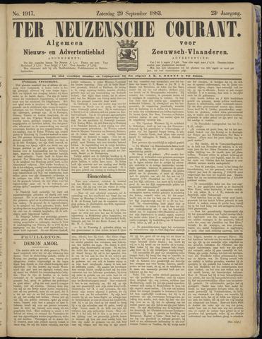 Ter Neuzensche Courant. Algemeen Nieuws- en Advertentieblad voor Zeeuwsch-Vlaanderen / Neuzensche Courant ... (idem) / (Algemeen) nieuws en advertentieblad voor Zeeuwsch-Vlaanderen 1883-09-29