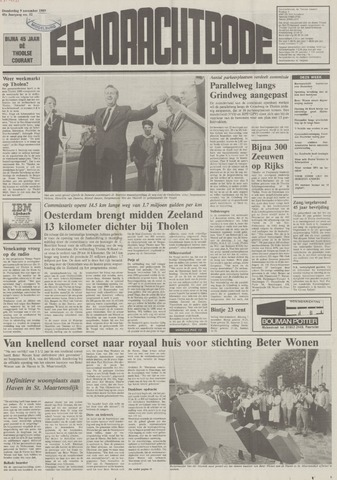 Eendrachtbode (1945-heden)/Mededeelingenblad voor het eiland Tholen (1944/45) 1989-11-09