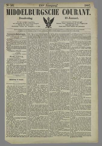 Middelburgsche Courant 1887-01-13