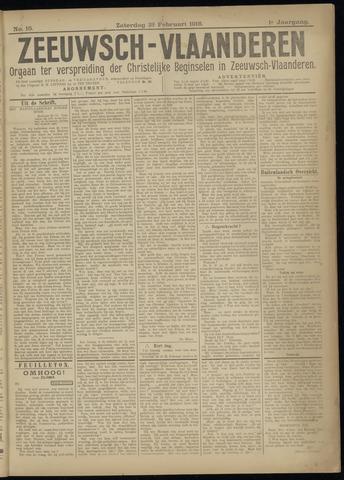 Luctor et Emergo. Antirevolutionair nieuws- en advertentieblad voor Zeeland / Zeeuwsch-Vlaanderen. Orgaan ter verspreiding van de christelijke beginselen in Zeeuwsch-Vlaanderen 1918-02-23
