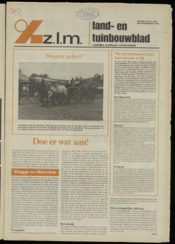 Zeeuwsch landbouwblad ... ZLM land- en tuinbouwblad 1982-07-16