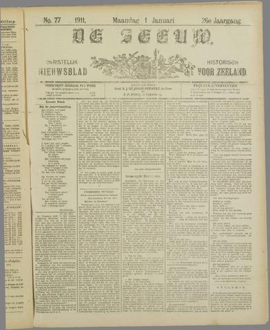 De Zeeuw. Christelijk-historisch nieuwsblad voor Zeeland 1911