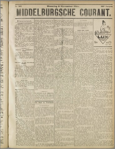 Middelburgsche Courant 1922-11-06