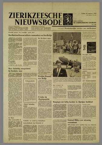 Zierikzeesche Nieuwsbode 1962-08-24