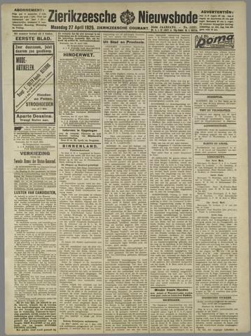 Zierikzeesche Nieuwsbode 1925-04-27