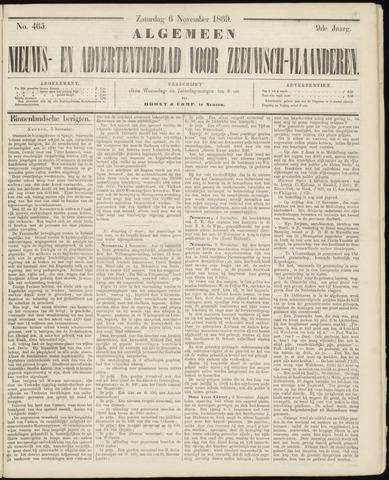 Ter Neuzensche Courant. Algemeen Nieuws- en Advertentieblad voor Zeeuwsch-Vlaanderen / Neuzensche Courant ... (idem) / (Algemeen) nieuws en advertentieblad voor Zeeuwsch-Vlaanderen 1869-11-06