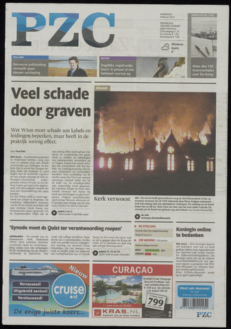 Provinciale Zeeuwse Courant 2013-02-06
