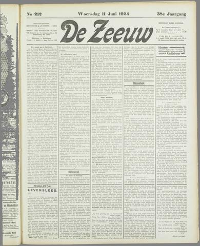 De Zeeuw. Christelijk-historisch nieuwsblad voor Zeeland 1924-06-11