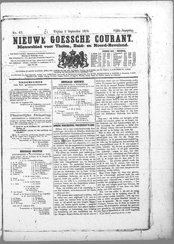 Nieuwe Goessche Courant 1870-09-02