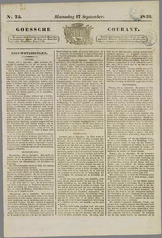 Goessche Courant 1849-09-17