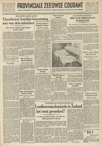 Provinciale Zeeuwse Courant 1952-11-21