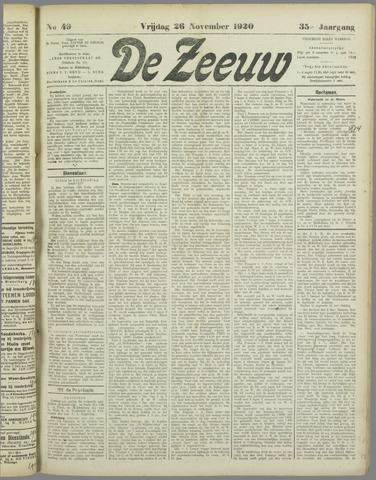 De Zeeuw. Christelijk-historisch nieuwsblad voor Zeeland 1920-11-26
