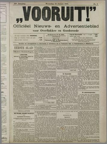 """""""Vooruit!""""Officieel Nieuws- en Advertentieblad voor Overflakkee en Goedereede 1916-01-12"""
