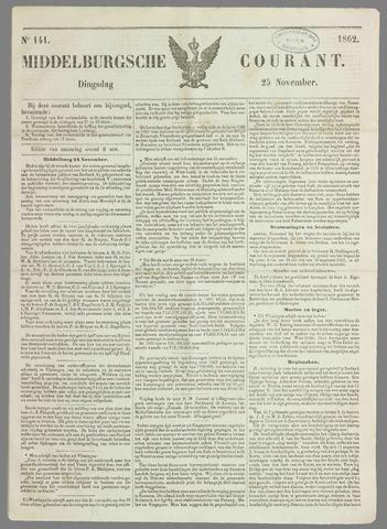 Middelburgsche Courant 1862-11-25