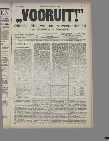 """""""Vooruit!""""Officieel Nieuws- en Advertentieblad voor Overflakkee en Goedereede 1913-08-27"""