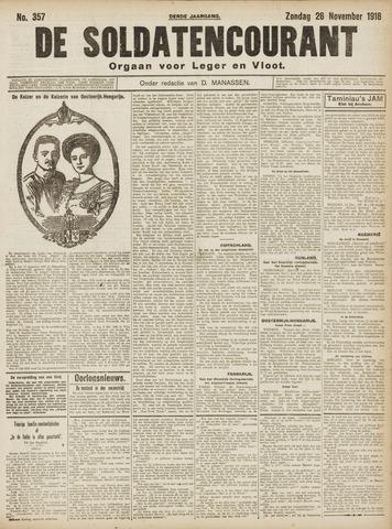 De Soldatencourant. Orgaan voor Leger en Vloot 1916-11-26