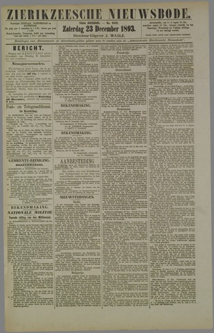 Zierikzeesche Nieuwsbode 1893-12-23
