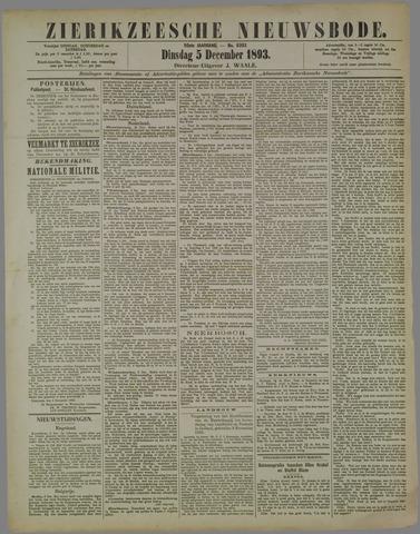 Zierikzeesche Nieuwsbode 1893-12-05