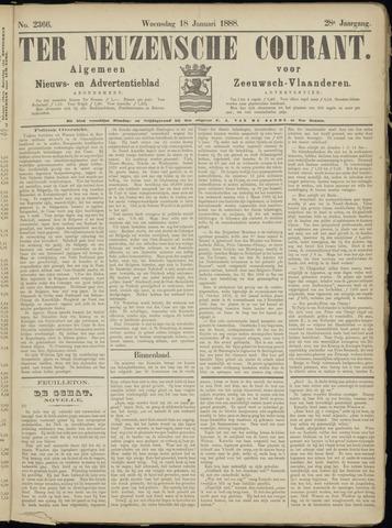 Ter Neuzensche Courant. Algemeen Nieuws- en Advertentieblad voor Zeeuwsch-Vlaanderen / Neuzensche Courant ... (idem) / (Algemeen) nieuws en advertentieblad voor Zeeuwsch-Vlaanderen 1888-01-18