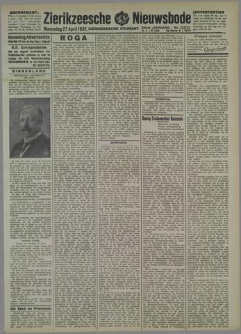 Zierikzeesche Nieuwsbode 1932-04-27