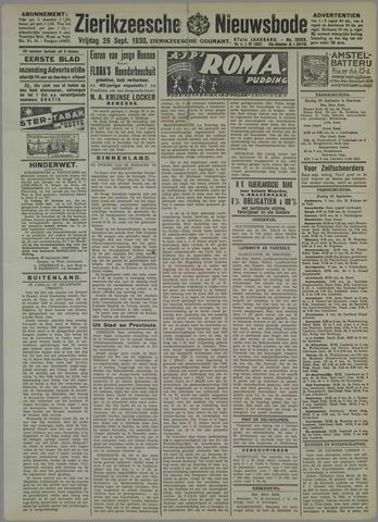 Zierikzeesche Nieuwsbode 1930-09-26