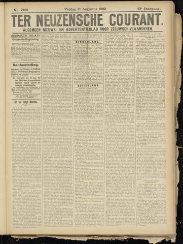 Ter Neuzensche Courant. Algemeen Nieuws- en Advertentieblad voor Zeeuwsch-Vlaanderen / Neuzensche Courant ... (idem) / (Algemeen) nieuws en advertentieblad voor Zeeuwsch-Vlaanderen 1923-08-31